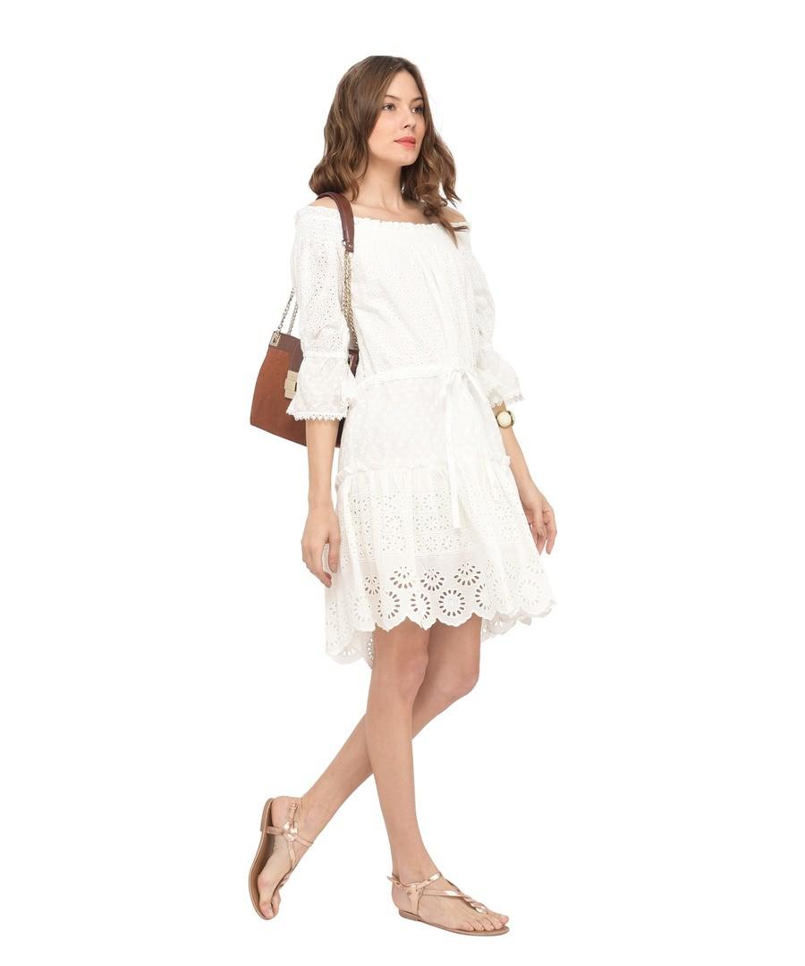 Solid openwork dress in cotton J75 Sale - Miss June