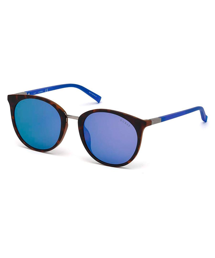 blue & Havana club sunglasses Sale - guess