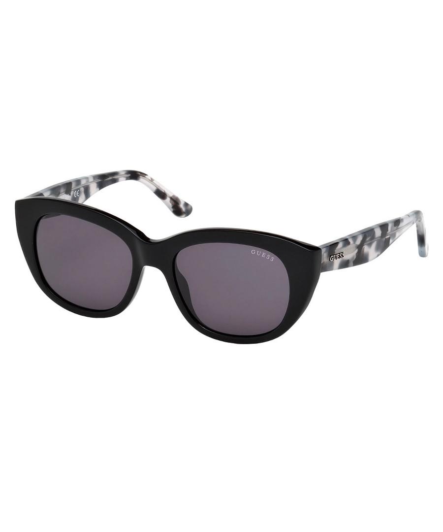 black & violet oval sunglasses Sale - guess