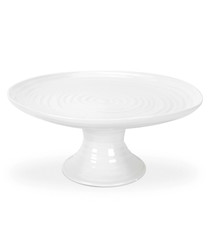 White porcelain footed cake plate 24.5cm