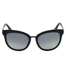 Emma matte black cat eye sunglasses