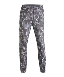 Grey camo print joggers