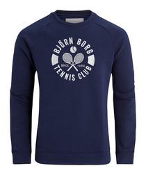 Peacoat logo sweatshirt