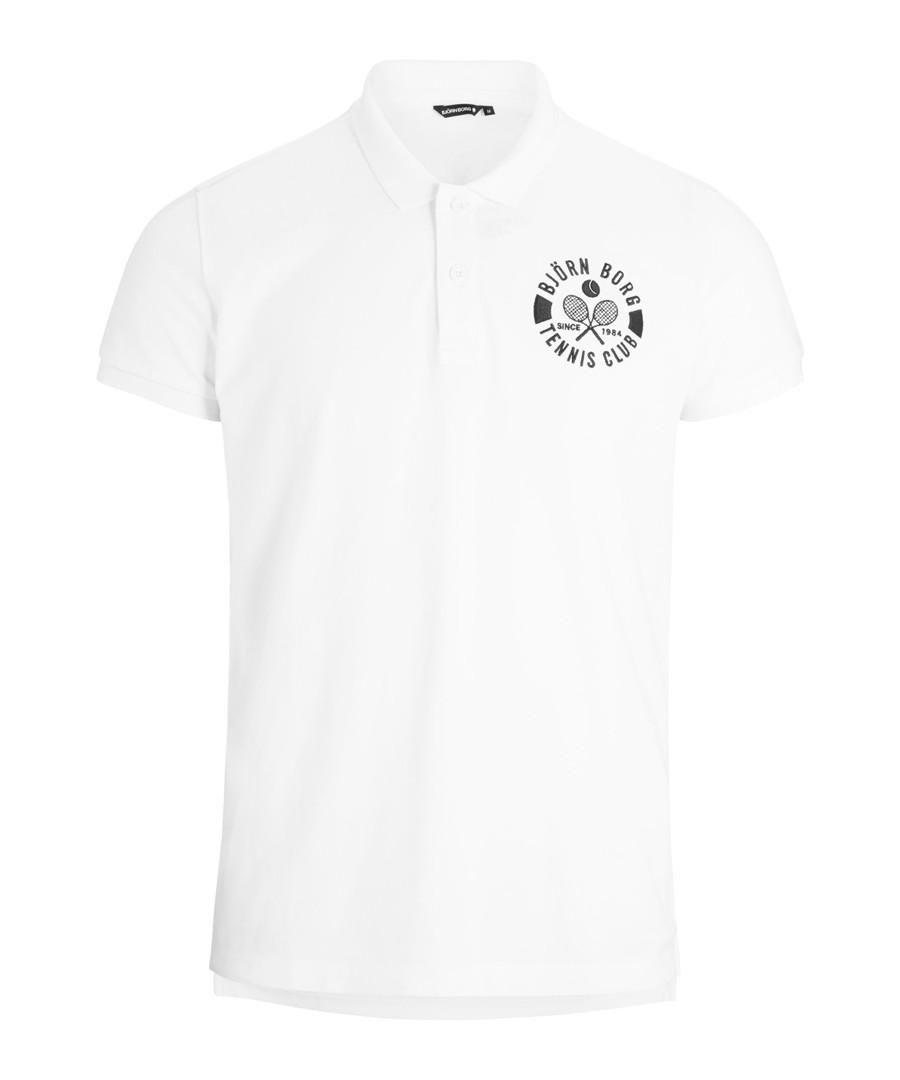 Brilliant white pure cotton polo shirt Sale - Bjorn Borg