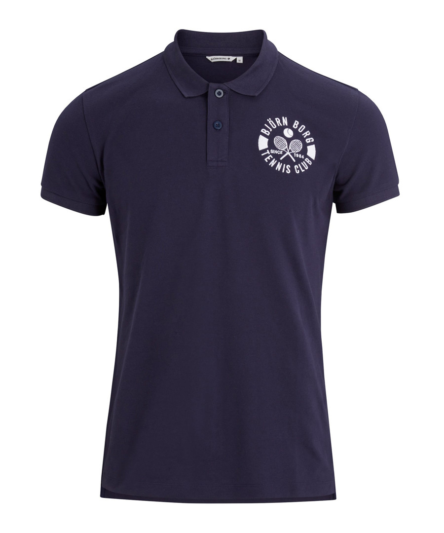Peacoat pure cotton polo shirt Sale - Bjorn Borg