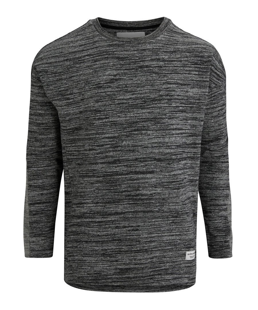 Breeze black melange sweatshirt Sale - bjorn borg