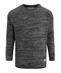 Breeze black melange sweatshirt