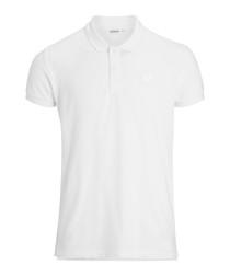 Brilliant white pure cotton polo shirt