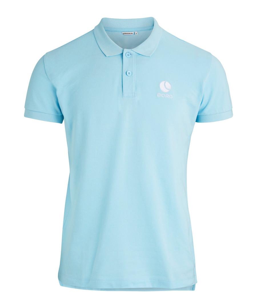 Crystal blue pure cotton polo shirt Sale - bjorn borg