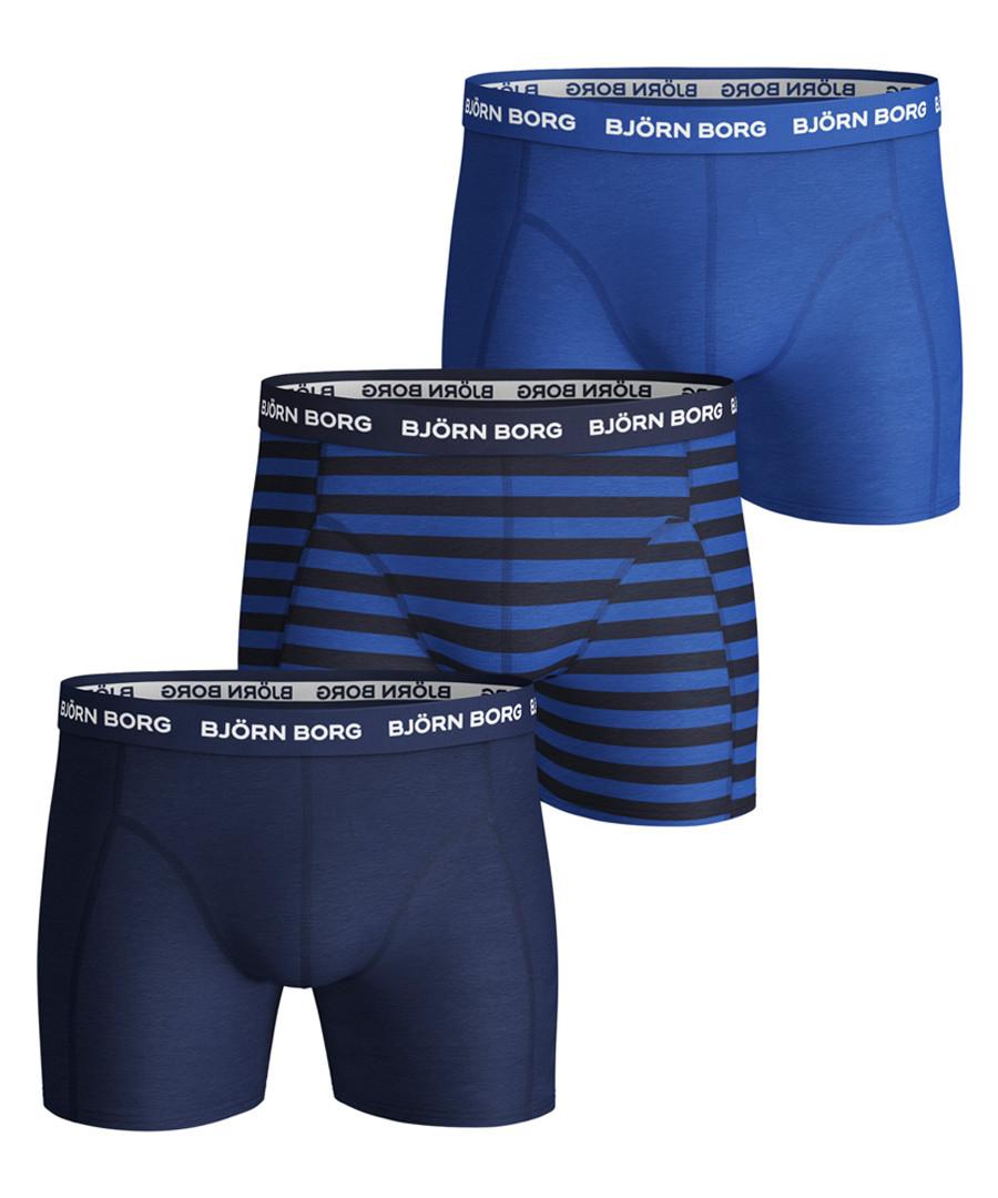 3pc Navy blue boxer set Sale - bjorn borg