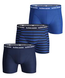 3pc Navy blue boxer set