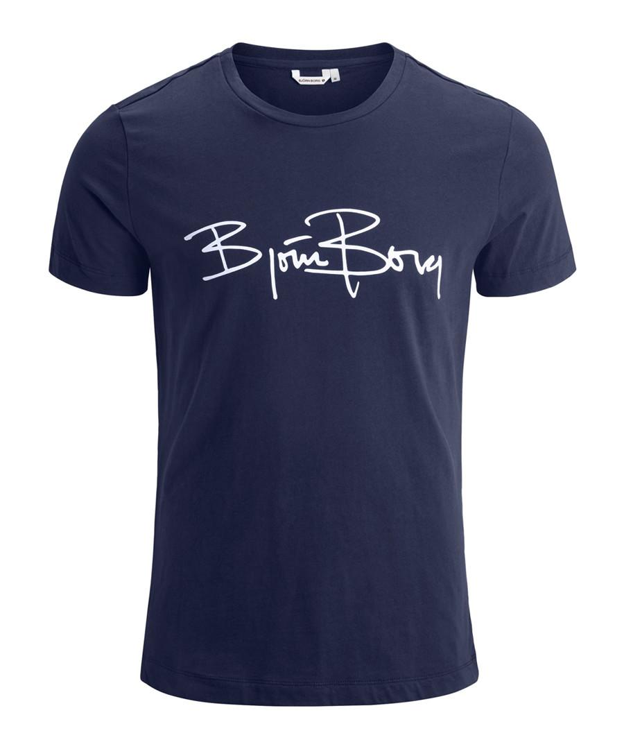 Peacoat pure cotton logo T-shirt Sale - bjorn borg