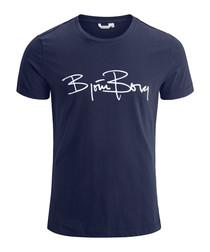 Peacoat pure cotton logo T-shirt