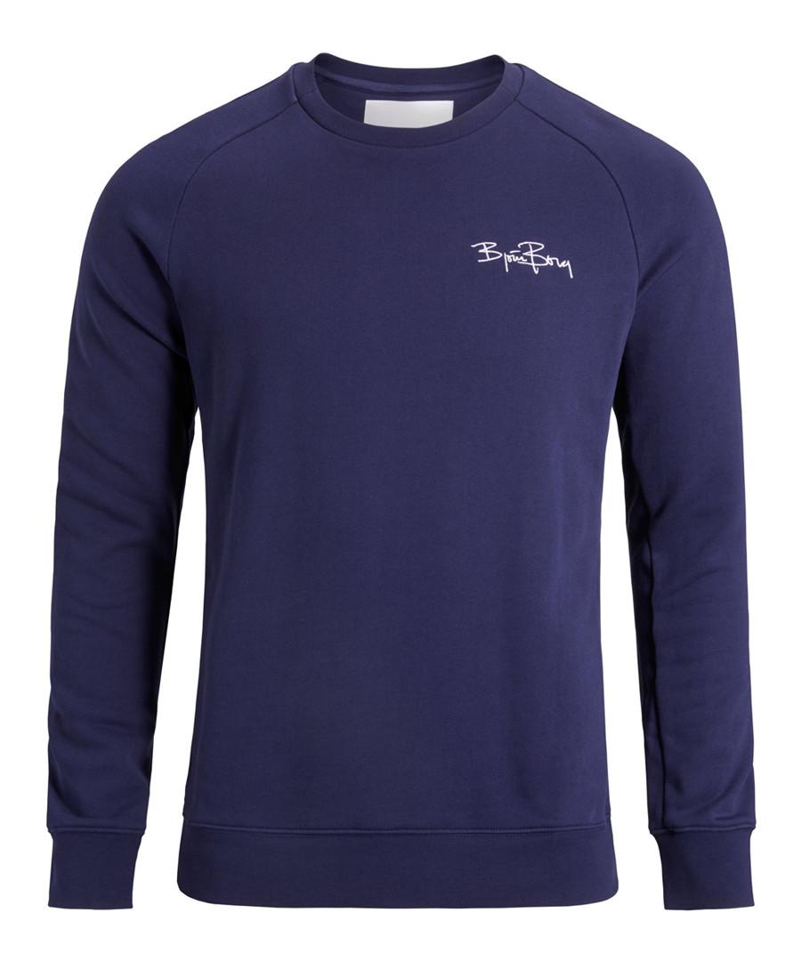 Peacoat pure cotton logo sweatshirt Sale - bjorn borg