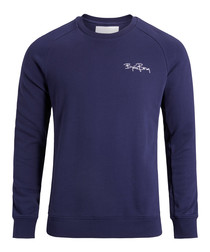 Peacoat pure cotton logo sweatshirt