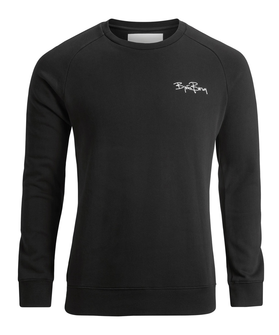 Black pure cotton logo sweatshirt Sale - bjorn borg