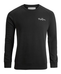 Black pure cotton logo sweatshirt