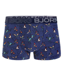 Peacoat birdies print boxers