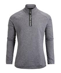Castlerock melange half-zip jumper