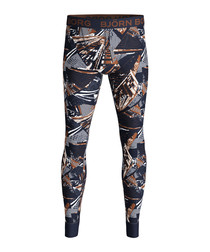 Skyscraper print long johns