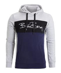 Signature colour block logo hoodie
