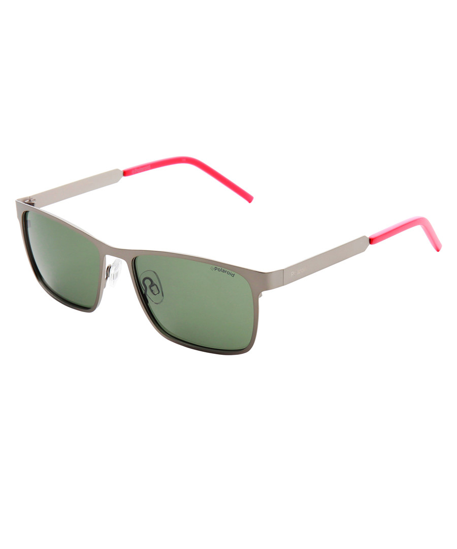 metal & pink squared sunglasses Sale - polaroid