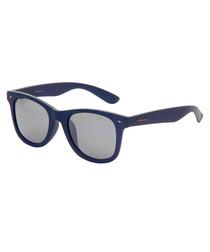 navy D-frame sunglasses