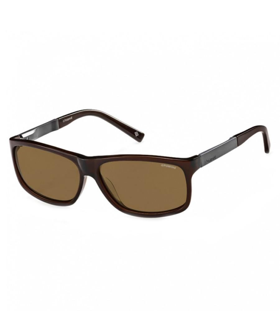 brown rectangle sunglasses Sale - polaroid