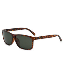 light Havana slim D-frame sunglasses