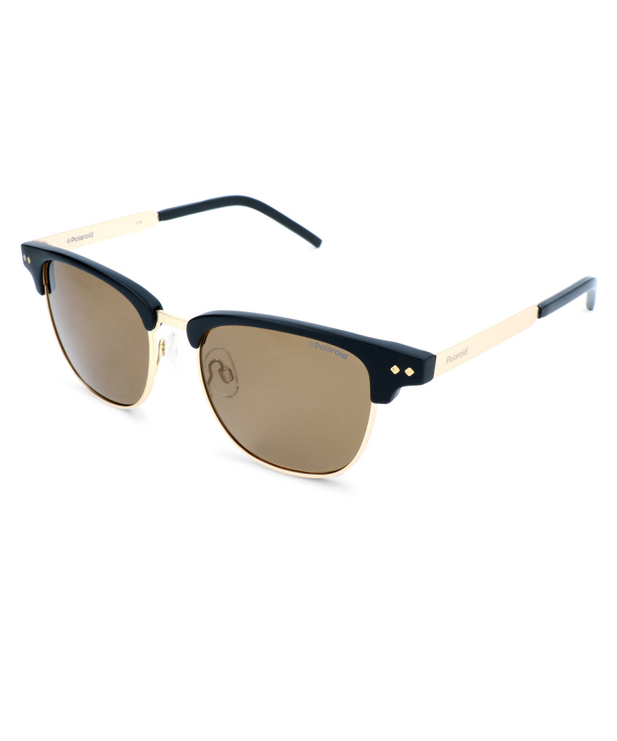 black & gold-tone club sunglasses Sale - polaroid