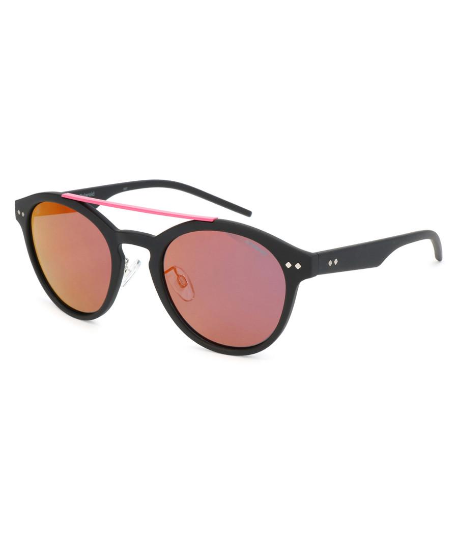 black & pink rounded D-frame sunglasses Sale - polaroid