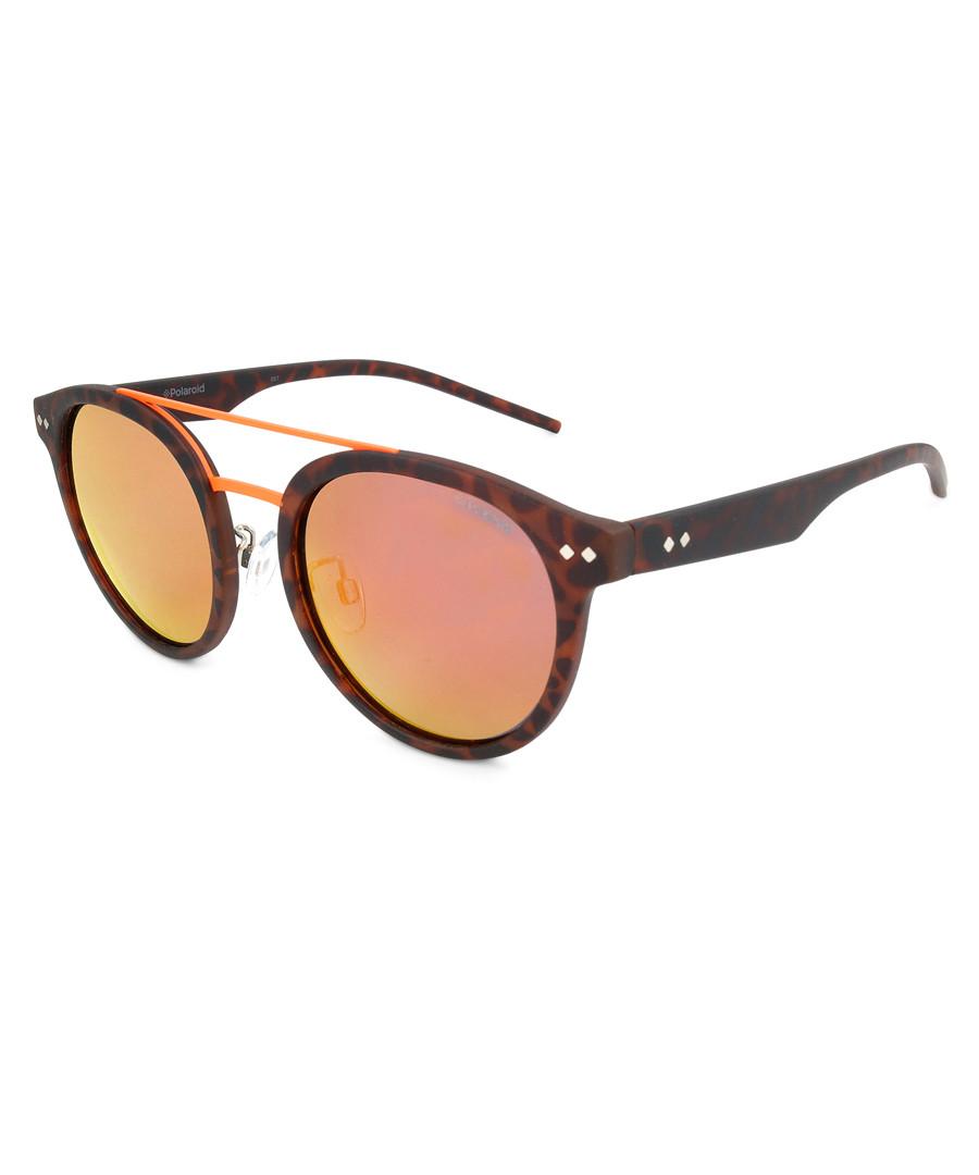 tortiseshell rounded D-frame sunglasses Sale - polaroid