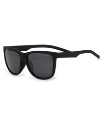 black D-frame sunglasses