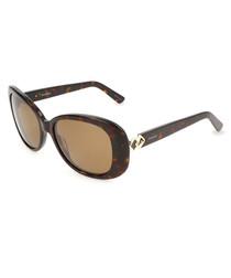 Havana oval sunglasses