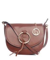 Tidone brown leather bag