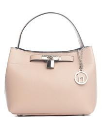 Toce tan leather padlock bag