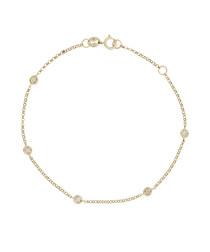 Sunshine gold & diamond bracelet