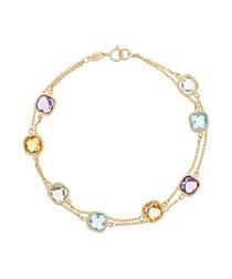 Multi-stone & gold bracelet