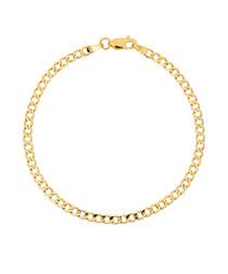 Hollow Mesh gold chain bracelet