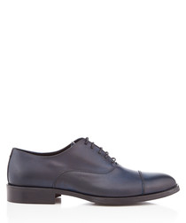 Italia navy leather Oxford shoes