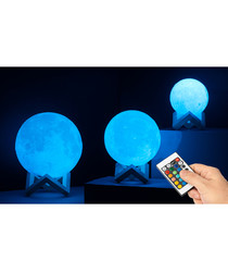 globrite colour changing moon lamp 14cm