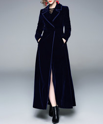 midnight wrap longline coat