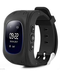 Kids' black GPS tracking smartwatch