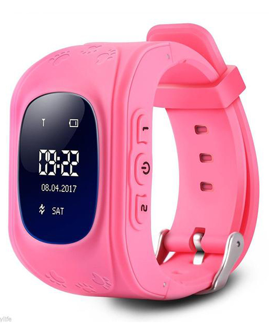 Kids' pink GPS tracking smartwatch Sale - dynergy
