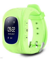 Kids' green GPS tracking smartwatch