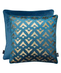 Samba teal cushion 43cm