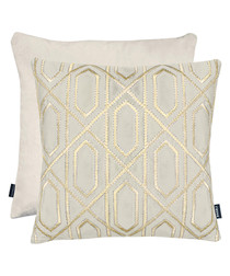 Chelsea cream velvet cushion 43cm