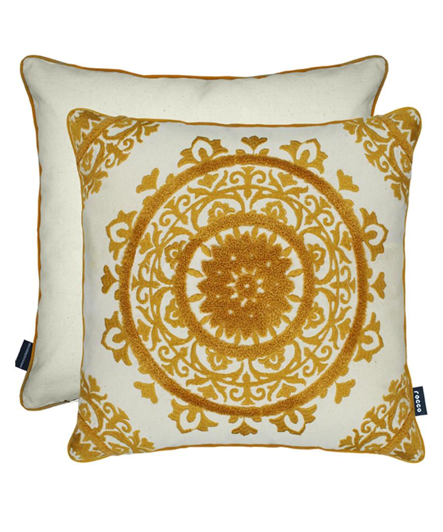 Lombok ochre cushion 43cm Sale - ROCCO