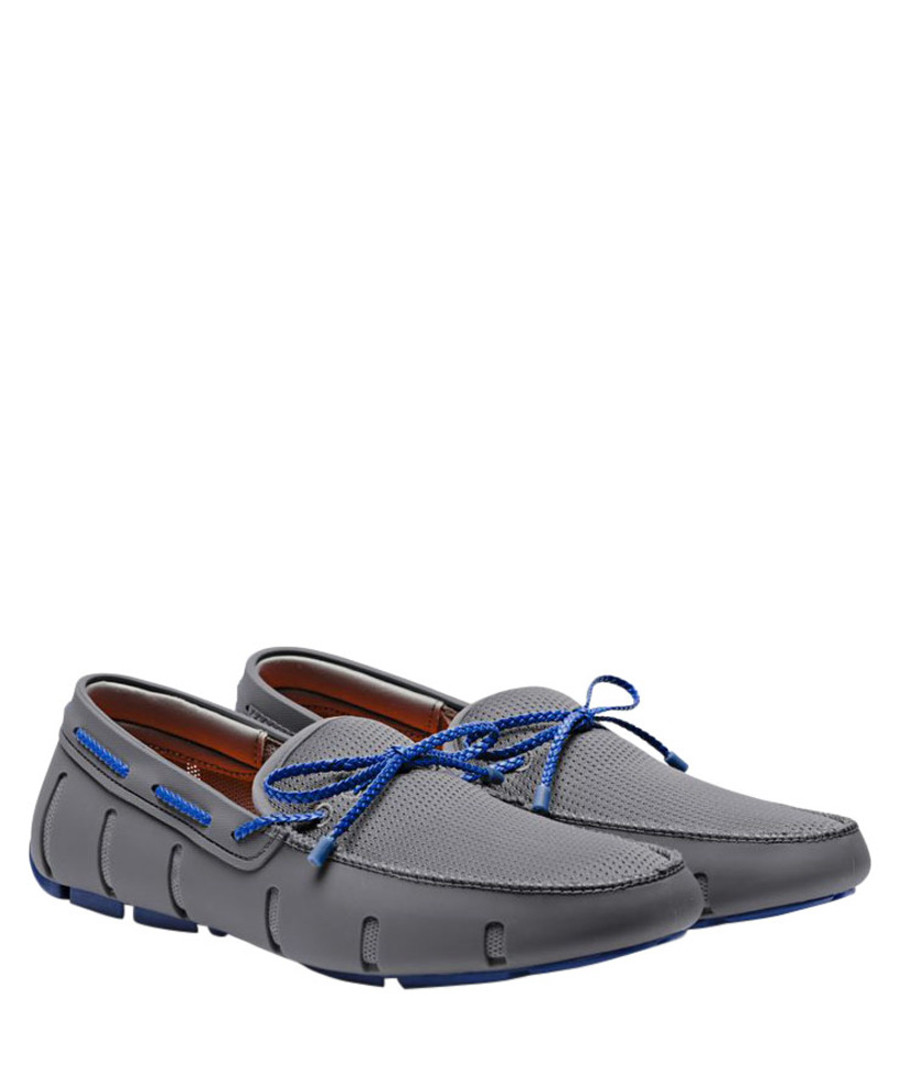 grey & blue braided loafers Sale - swims