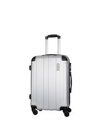 delos silver suitcase 66cm